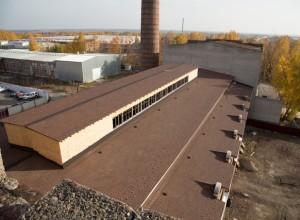 Новая крыша в зале для Богослужений