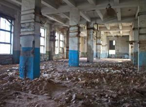 Первый этаж трех этажного здания